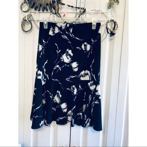 Chaps Skirts - Chaps Navy Skirt